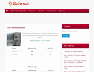 nairarate.com screenshot