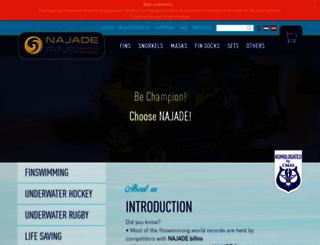 najadefins.org screenshot