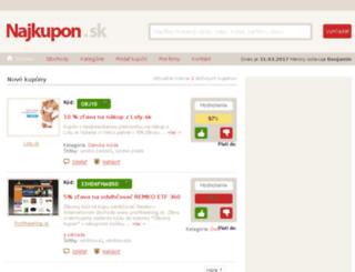 najkupon.sk screenshot