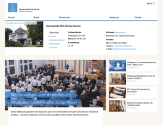 nak-scharnhorst.de screenshot