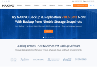 nakivo.com screenshot