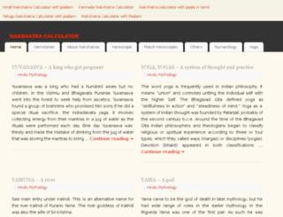 nakshatracalculator.com screenshot