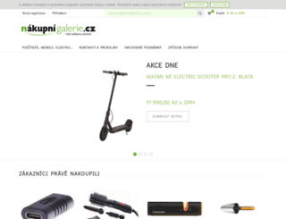 nakupnigalerie.cz screenshot