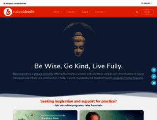 nalandabodhi.org screenshot
