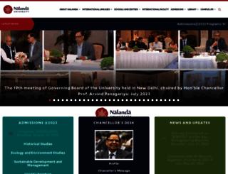 nalandauniv.edu.in screenshot