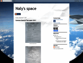 nalyspace.blogspot.com screenshot