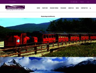 namasteargentina.com screenshot