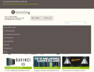 namastevapesbrasil.com screenshot