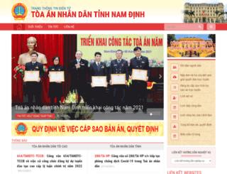 namdinh.toaan.gov.vn screenshot