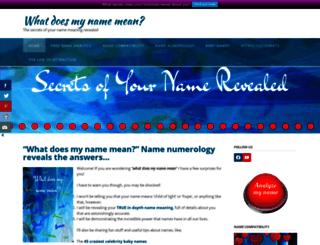 name-meanings.co.uk screenshot