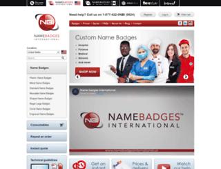 namebadgesinternational.us screenshot