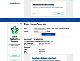 namefake.com screenshot