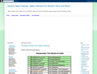 nameformuslimbaby.blogspot.com screenshot