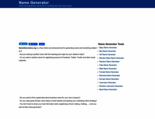 namegenerators.org screenshot