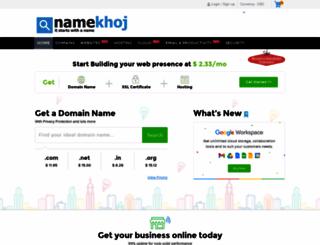 namekhoj.com screenshot