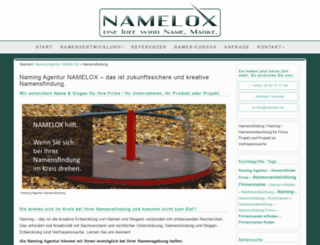 namelox.de screenshot