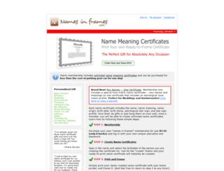 namesinframes.com screenshot