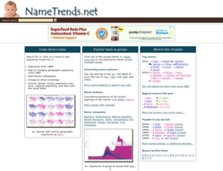 nametrends.net screenshot