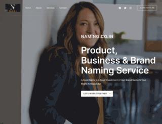 naming.co.in screenshot