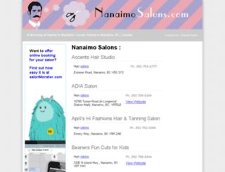 nanaimosalons.com screenshot