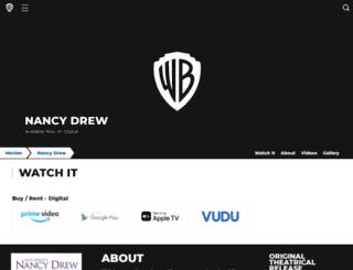 nancydrewmovie.warnerbros.com screenshot