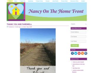 nancyonthehomefront.com screenshot
