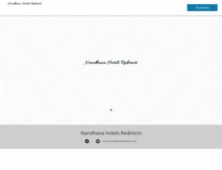 nandhanahotels.com screenshot