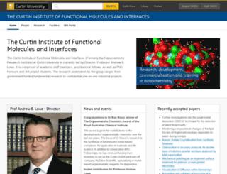 nanochemistry.curtin.edu.au screenshot