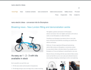 nanoelectricbikes.co.uk screenshot