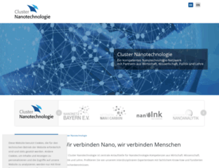 nanoinitiative-bayern.de screenshot