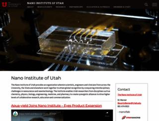 nanoinstitute.utah.edu screenshot