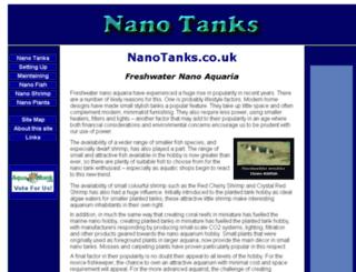 nanotanks.co.uk screenshot