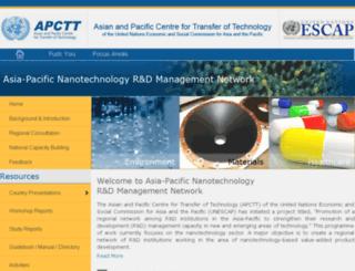 nanotech.apctt.org screenshot