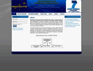 nanotechftm.tmf.bg.ac.rs screenshot