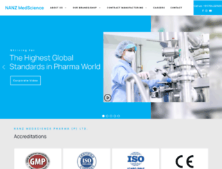 nanzpharma.com screenshot