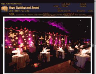 napalightingandsound.com screenshot