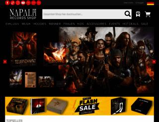napalmrecords.com screenshot