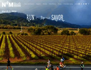 napavalleymarathon.org screenshot