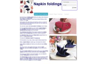 napkinfolding.moonfruit.com screenshot