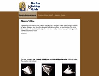 napkinfoldingguide.com screenshot