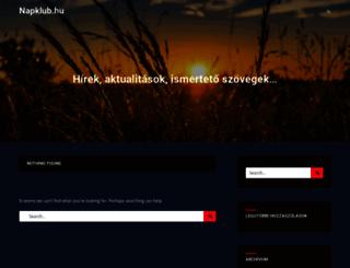 napklub.hu screenshot