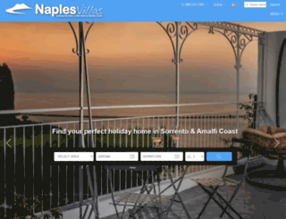 naplesvillas.co.uk screenshot