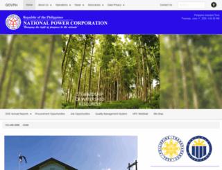 napocor.gov.ph screenshot