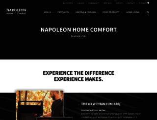 napoleonhomecomfort.com screenshot