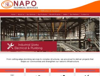 napotechnicalservices.com screenshot