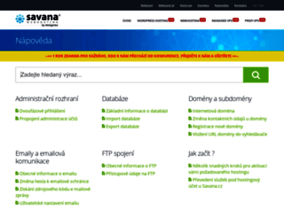 napoveda.savana.cz screenshot