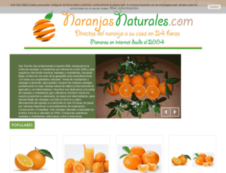 naranjasnaturales.com screenshot