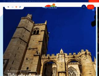 narbonne-tourisme.com screenshot