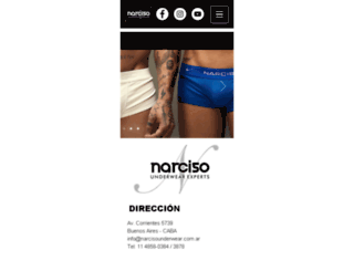 narcisounderwear.com.ar screenshot