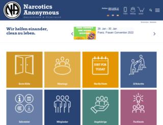 narcotics-anonymous.de screenshot